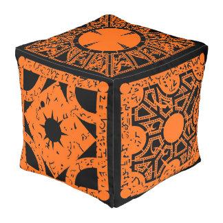 Orange Lemarchand's Lament Configuration Hell Box Pouf