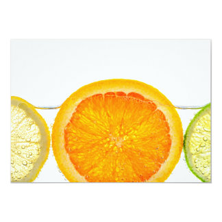 Orange lemon and lime slices in water custom invite
