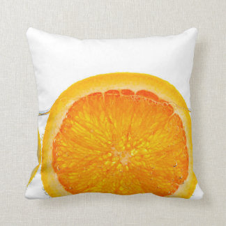 Orange lemon and lime slices in water pillows