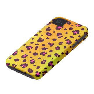 Orange Leopard iPhone 4 Case-Mate Barely There™