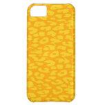 Orange Leopard Print Skin iPhone 5C Cases