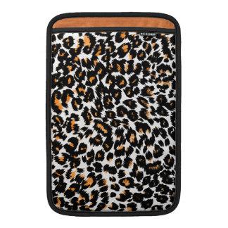 Orange Leopard Spots MacBook Sleeves