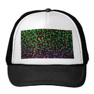 Orange Leopard Spots on Green/Purple Background Trucker Hat