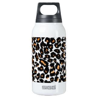 Orange Leopard Spots Pattern Insulated Water Bottle