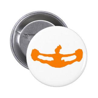 """Orange """"LET'S CHEER!"""" Button"""