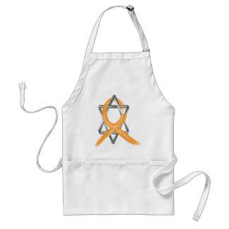 Orange Leukemia Survivor Ribbon Adult Apron