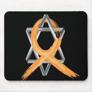 Orange Leukemia Survivor Ribbon Mouse Pad