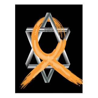 Orange Leukemia Survivor Ribbon Postcard