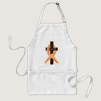 Orange Leukemia Survivor's Cross of Faith Adult Apron