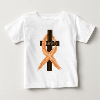 Orange Leukemia Survivor's Cross of Faith Baby T-Shirt