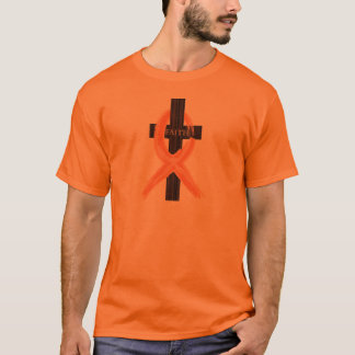 Orange Leukemia Survivor's Cross of Faith T-Shirt
