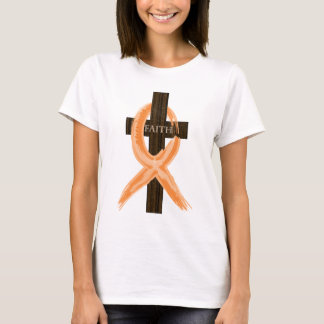 Orange Leukemia Survivor's Cross of Faith T-Shirt