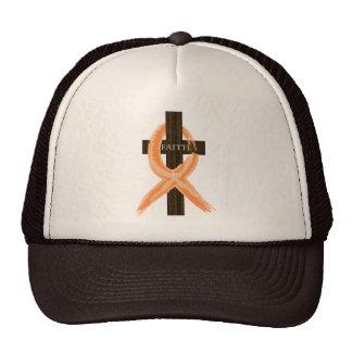 Orange Leukemia Survivor's Cross of Faith Trucker Hat