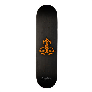 Orange Libra Skateboard Decks