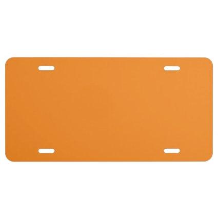 """Orange"" License Plate"