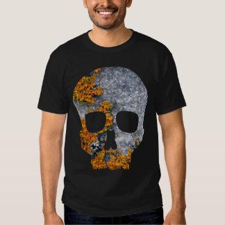 orange lichen granite skull shirt