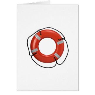 ORANGE LIFE RING CARD