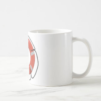 ORANGE LIFE SAVER COFFEE MUG