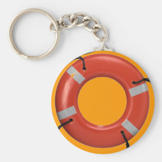 ORANGE LIFE SAVER KEYCHAIN