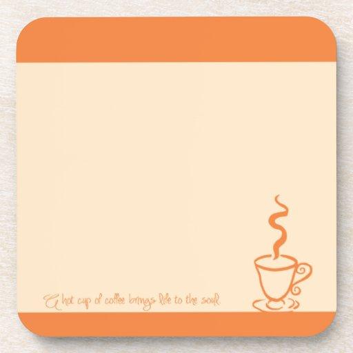 Orange Life to the Soul Coffee Coaster Set