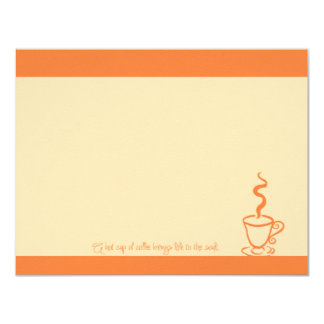 Orange Life to the Soul Coffee Cup Note Cards