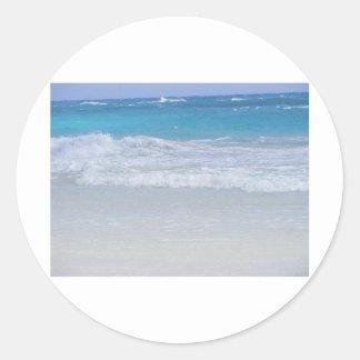 ORANGE LIFESAVER ON THE BEACH CLASSIC ROUND STICKER