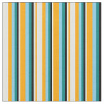 [ Thumbnail: Orange, Light Cyan, Black, Teal & Sky Blue Colored Fabric ]
