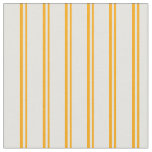 [ Thumbnail: Orange & Light Cyan Striped/Lined Pattern Fabric ]