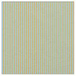[ Thumbnail: Orange & Light Sky Blue Colored Pattern Fabric ]