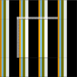 [ Thumbnail: Orange, Light Sky Blue, Green, Mint Cream & Black Fabric ]