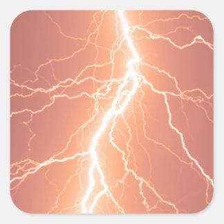 Orange Lightning Strike - Sticker