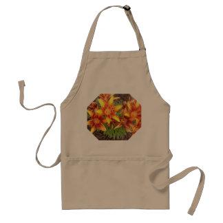 Orange Lilies apron by Carol Zeock