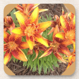 Orange Lilies Coaster from Ohio Artist Carol Zeock