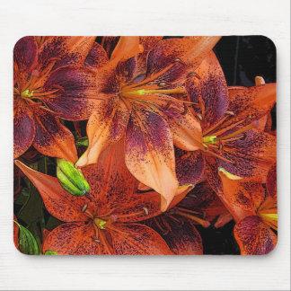 Orange Lilies Mouse Pad