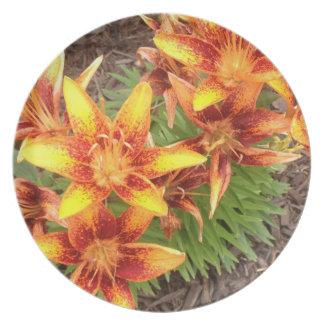 Orange Lilies Plate from Carol Zeock