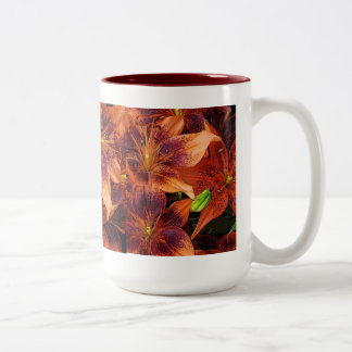 Orange Lilies Two-Tone Coffee Mug