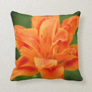 Orange lilly pillow