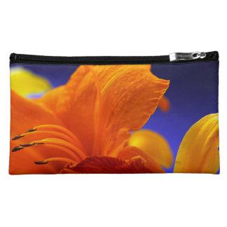 Orange Lily Bouquet Makeup Bags
