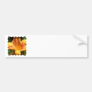 Orange Lily Bumper Sticker Car Bumper Sticker