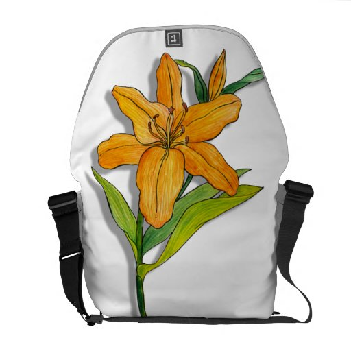 Orange Lily Commuter Bags