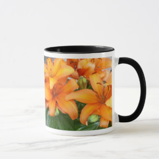 Orange Lily Flowers Mug