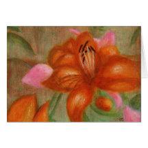 Orange Lily, Greeting Card