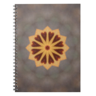 Orange Lily Hearts Spiral Notebooks