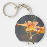 orange lily key chain