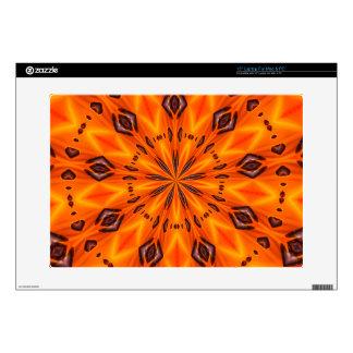 Orange Lily Medallion Laptop and Netbook Skin