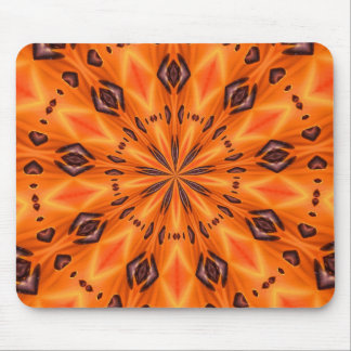 Orange Lily Medallion Mousepad