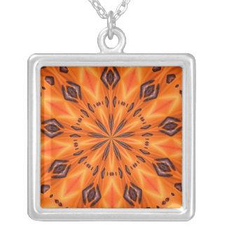 Orange Lily Medallion Custom Necklace