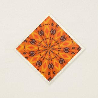 Orange Lily Medallion Disposable Napkin