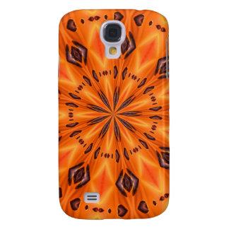 Orange Lily Medallion Samsung Galaxy S4 Case