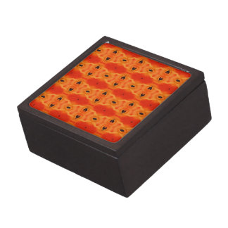 Orange Lily Pattern Jewelry Box